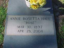Annie Rosetta <i>''Rose''</i> Hall