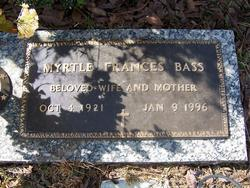 Myrtle Frances <i>Sizemore</i> Bass