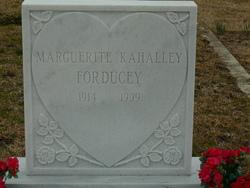 Marguerite <i>Kahalley</i> Forducey