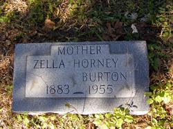 Zella <i>Horney</i> Burton