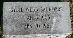 Sybil <i>Webb</i> Saunders