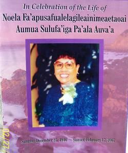 Noela Fa'apusa <i>Pa'ala</i> Auva'a