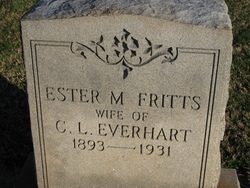 Esther May <i>Fritts</i> Everhart