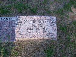 Dorothy Betty K <i>Mantooth</i> Brown