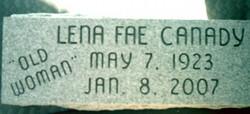Lena Fae Old Woman <i>Clark</i> Canady