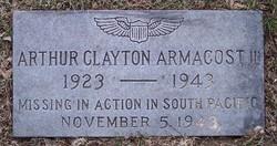 Lieut Arthur Clayton Armacost, III