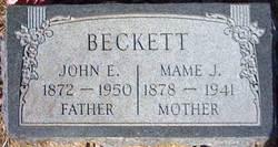 Mary Josephine Mame <i>Ihler</i> Beckett
