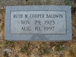 Ruth M <i>Cooper</i> Baldwin
