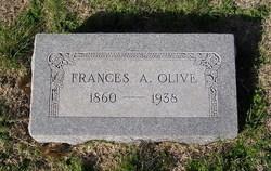 Frances A <i>Gentry</i> Olive
