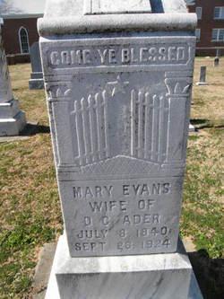 Mary <i>Evans</i> Ader