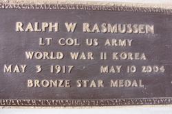 Col Ralph Waldo Rasmussen