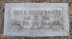 Anne D. <i>Rogers</i> Browne