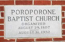 Poroporone Baptist Church Cemetery