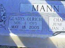 Gladys Pauline <i>Olrich</i> Mann