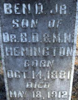 Benjamin David Henington, Jr