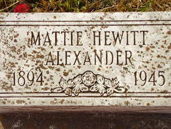 Mattie <i>Hewitt</i> Alexander