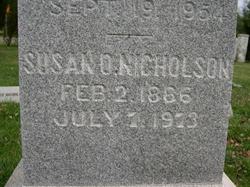 Susan Virginia <i>Oland</i> Nicholson