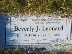 Beverly J. <i>Zupp</i> Leonard