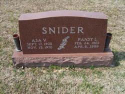 Pansy Lee <i>LaRue</i> Snider