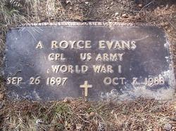 Corp Aubrey Royce Evans