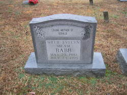 Willie Evelyn <i>Milam</i> Babb