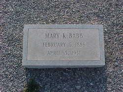 Mary <i>King</i> Babb