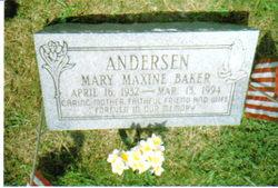 Mary Maxine <i>Baker</i> Anderson
