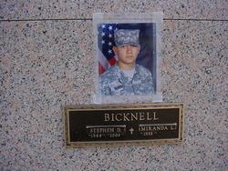 PFC Stephen Dean Bicknell