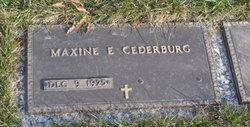 Maxine Esther <i>Douglas</i> Cederburg