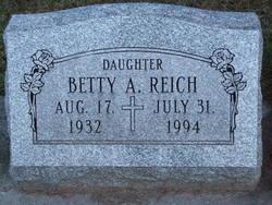 Betty A REICH