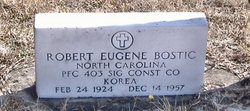 PFC Robert Eugene Bostic