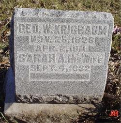 Sarah Ann <i>Graves</i> Krigbaum