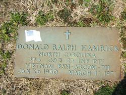 Spec Donald Ralph Hamrick