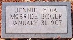 Jennie Lydia <i>McBride</i> Boger