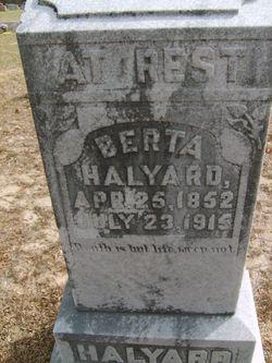 Roberta A Berta <i>Hall</i> Halyard