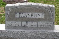 Minnie <i>Daniels</i> Franklin