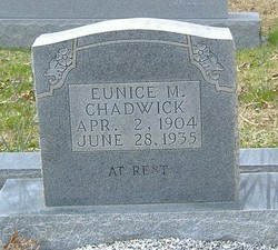 Eunice M. <i>Holt</i> Chadwick