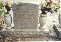 Bessie Evelyn <i>Dean</i> Higginbotham
