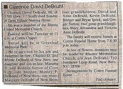 Clarence David DeBruhl