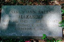 Sarah Ann <i>Sales</i> Alexander
