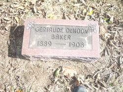 Gertrude Denoon <i>DeNoon</i> Baker