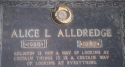 Alice L Alldredge
