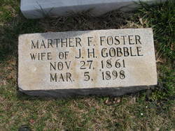 Marther F. Fannie <i>Foster</i> Gobble