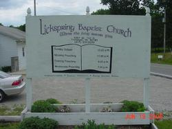 Lickspring Baptist Church Cemetery
