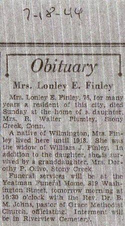 Lonely Estella <i>Walmsley</i> Finley