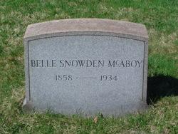 Belle <i>Snowden</i> McAboy