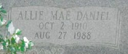 Allie Mae <i>Daniel</i> Brown
