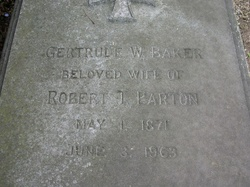 Gertrude W <i>Baker</i> Barton