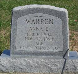 Anna Emelia <i>Forfang</i> Warren