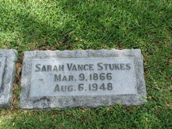 Sarah Ann <i>Vance</i> Stukes